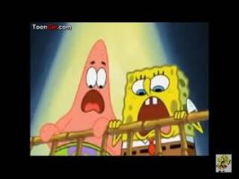 SpongeBob and Patrick scared by SnowShowilo