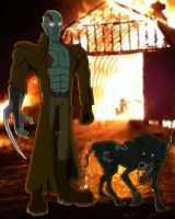 Jebadiah Walker and Hellhound by Inkheart7