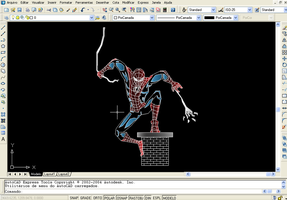 spider-man on AutoCAD by Quigonkenobi