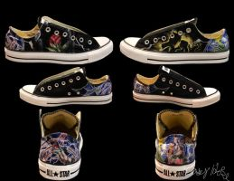 Beauty and the Beast Stained Glass Converse by caseyhoke
