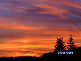 Evening Sky in Simmern 2 by xXDemonSoulXx