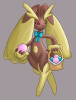 Ester the Lopunny by lonemaximal