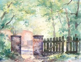 The gate in Lagow by mashami