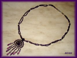 Purple-silver indian necklace by jasmin7