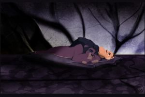 Sleeping Kovu And Kiara by dyb