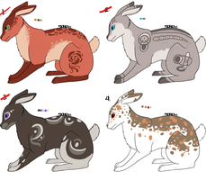 Rabbit Adotables 1 [Open 1/4 left] by Squidoptables