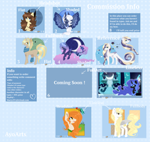 COMMISSION INFO [CLOSED] by AyoArts