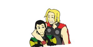 Thor and Loki 2 by HitomixNeji