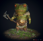 Toad Warrior - Substance Painter Practice.. by Skworld