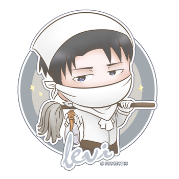 Levi Sticker by sooctopus
