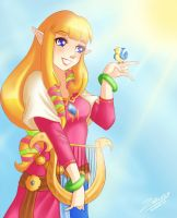 Skyward Sword: Zelda by Zelbunnii