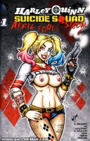 Naughty Suicide Squad Harley Quinn sketch cover by gb2k
