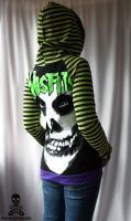 misfits stripe hoodie by smarmy-clothes