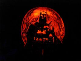 Batman Pumpkin by rjclrutter