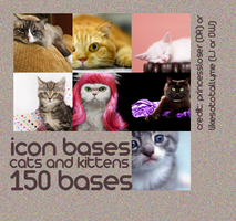 Cats and Kittens Icon Bases by princessloser
