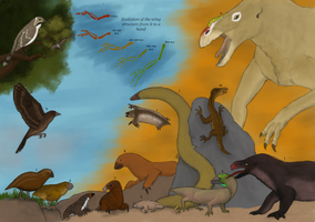 TFiF: Evolution of quadrupedal birds by Dragonthunders