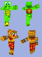 Croc and Ty the Tasmanian Tiger Minecraft Skins by Danny-Jay