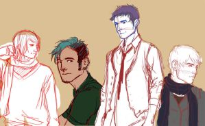 Teddy Lupin Sketches 1 by myepicfail