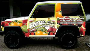 Beratagi Juice Car Branding by bandungcommunication
