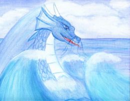 Sea Dragon Canvas Painting by Articuno