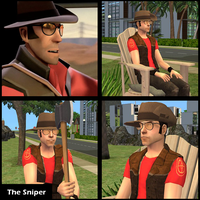 The Sniper from Tf2 for The Sims 2 by Ilona-the-Sinister