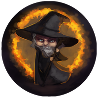 The Hobbit Buttons - Gandalf by BloodnSpice