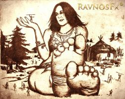 Giantess Goddess by RavnosFX