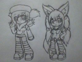 Random OC and Redesign by SaberCookie2410