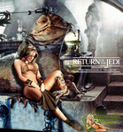 Viviane Bordin/Princess Leia Slave/Jabba The Hutt by c-edward
