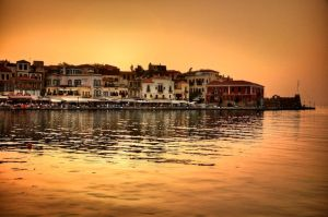Sunset in Chania by DynOpt