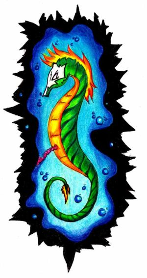 fairy tattoo design idea black horse tattoos. Among women, the seahorse