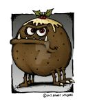 Christmas Pudding Monster by stuartmcghee