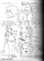 Aqua Teen Sketches 05 by Gummibearboy