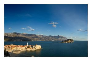 Budva and st. Nikola by Grofica