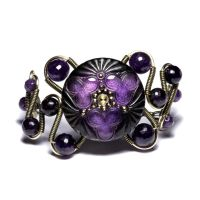 Purple Steampunk bracelet by CatherinetteRings