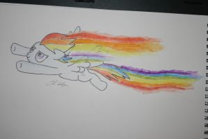 Rainbow in water colours! by Chrispy248