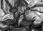 Holy Order Sol Grayscale by jorcerca