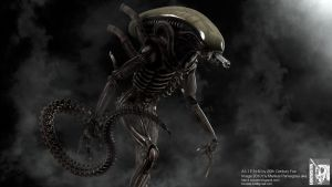 Giger ALIEN model shot III by locusta