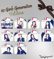 Girls Generation - Flower Power Folders (Request) by NileyJoyrus14