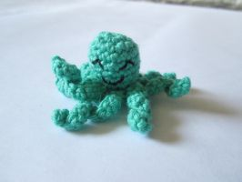 For Sale: Tiny Green Octopus Amigurumi by wlyteth