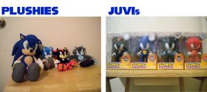 Sonic Plushies and JUVIs by Fuzon-S