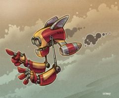 Flying Robot by Kravenous