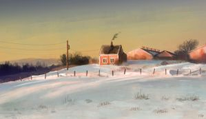 Snowy House study by FelFortune