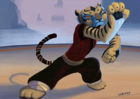 Tigress from Kung Fu Panda by ashvey