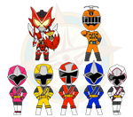 Assorted Chibis - Sentai and Rider by Dragon-FangX
