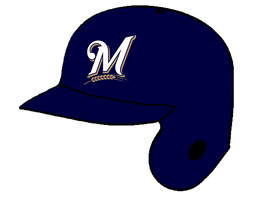 Milwaukee Brewers Batting Helmet by Chenglor55
