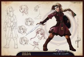 Concept Sheet - Zelda by lord-phillock