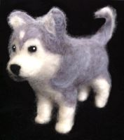 Needle Felted Husky Puppy! by StarlitCutesies