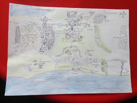 Kingdom of Onendarien: Map 1: (My personal vision) by Galron2