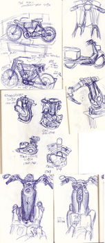 Cycle Sketches by ArtistsBlood